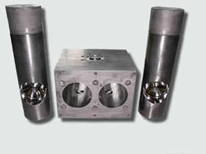 corrosion resistant screen changer with non stick properties